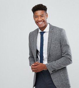 Read more about Farah tall skinny textured blazer - grey