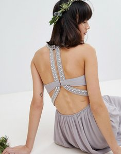 Read more about Tfnc embellished back detail maxi bridesmaid dress - grey