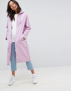 Read more about Asos vinyl maxi rain trench coat - lilac