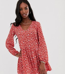Read more about Asos design tall mini textured smock dress in floral print