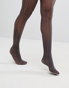 Read more about Gipsy chevron crochet tights - grey