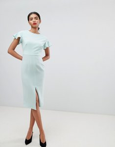 Read more about Asos design midi wiggle dress with fluted sleeve - mint green