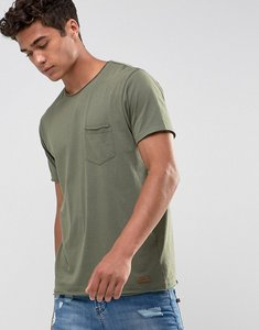 Read more about Brave soul basic raw edge t-shirt - green
