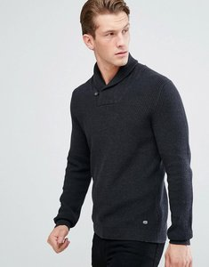 Read more about Esprit shawl collar jumper - charcoal 011
