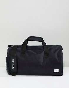 Read more about Spiral black duffle gym holdall - black