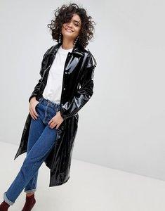 Read more about Mango vinyl mac jacket - black