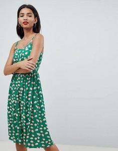Read more about Esprit pineapple print midi sun dress in green - green