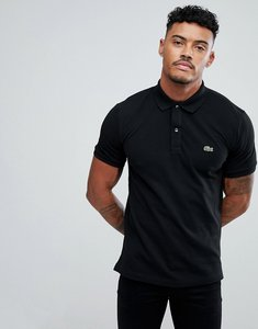 Read more about Lacoste slim fit pique polo in black - 031