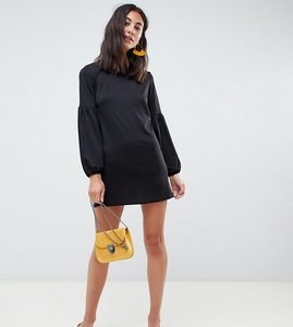 Read more about New look tall balloon sleeve tunic dress - black