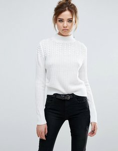 Read more about John jen chase popcorn stitch pattern crew neck jumper - 100 ivory