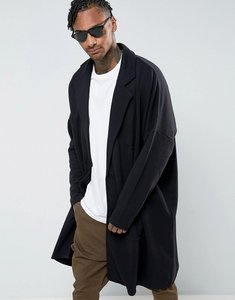 Read more about Asos extreme oversized longline jersey duster jacket - black
