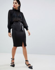 Read more about Sisley belt detail pencil skirt - black