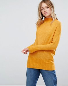 Read more about Monki high neck seam detail jumper - mustard