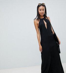 Read more about Asos design tall halter neck maxi dress - black