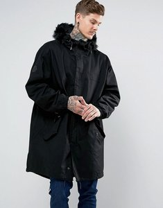 Read more about Bellfield cacoon parka - black