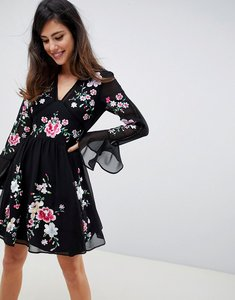 Read more about Asos design embroidered mini dress with lace trims