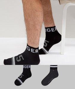 Read more about Tommy hilfiger quarter socks 2 pack american heritage - black