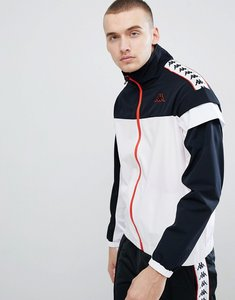 Read more about Kappa track jacket with banda taping panel - white