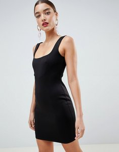 Read more about Asos design scuba 90s scoop neck mini dress - black