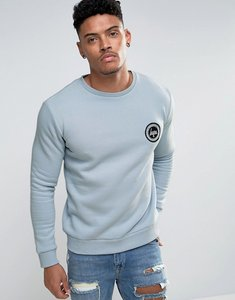 Read more about Hype sweatshirt in blue with crest logo - blue