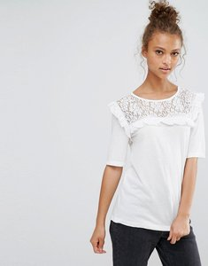Read more about B young frill front blouse - off white