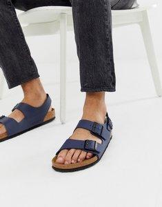 Read more about Birkenstock milano birko-flor sandals in blue