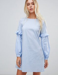 Read more about Glamorous frill sleeve shift dress - light blue