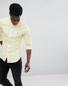 Read more about Polo ralph lauren slim fit button down collar oxford shirt with multi polo player logo in light yell