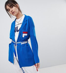Read more about D-antidote x fila soft blazer with belt - blue