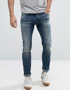 Read more about Jack jones intelligence jeans in slim fit distressed denim - washed blue 988