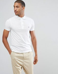 Read more about Tommy hilfiger slim fit polo in white - bright white