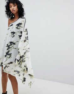 Read more about Religion impact dress in shatter print - white