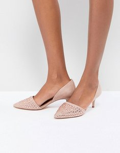 Read more about Coast beaded kitten heel shoes - blush