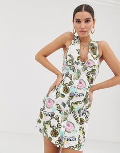 Read more about Asos design bodycon dress in scarf print - multi