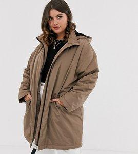 Read more about Asos design curve faux fur raincoat in mink