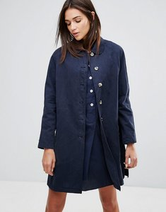 Read more about Ymc round collar mac coat - navy