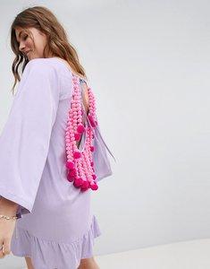 Read more about Sundress pom pom back dress - bleuet neon pink