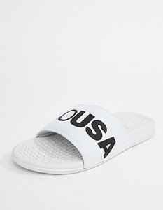 Read more about Dc shoes bolsa sliders in white - white black