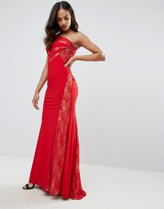 Read more about Forever unique one shoulder maxi dress - red