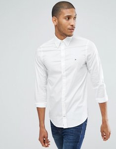 Read more about Tommy hilfiger oxford shirt with stretch in slim fit in white - bright white