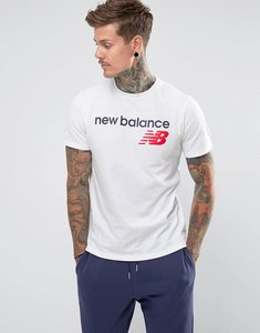 Read more about New balance classic logo t-shirt in white mt73581 wt - white