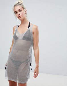 Read more about New look metallic beach dress - silver
