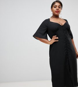 Read more about Fashion union plus maxi dress with flutter sleeves