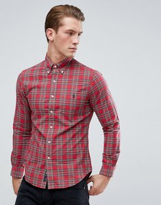 Read more about Polo ralph lauren tartan check shirt oxford slim fit pocket in red - red green