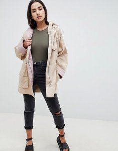 Read more about Asos design waterfall parka with contrast liner - multi