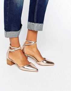 Read more about Asos official pointed heels - nude metallic
