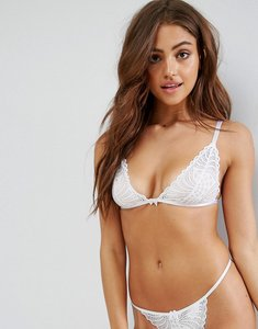 Read more about Asos mix match pippa girly scallop lace triangle bra - white