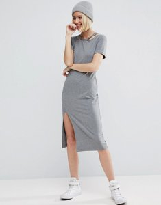 Read more about Asos t-shirt dress with ripped neck - grey marl