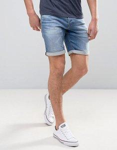 Read more about Jack jones intelligence denim shorts in regular fit with rolled hem - ge784 black