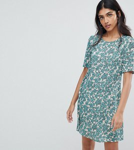 Read more about Glamorous tall shift dress in floral - green multi